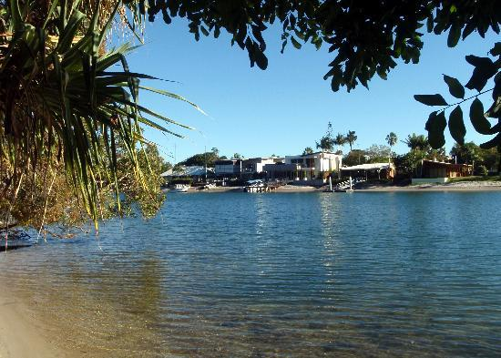 View from the private beach at Macquarie Lodge