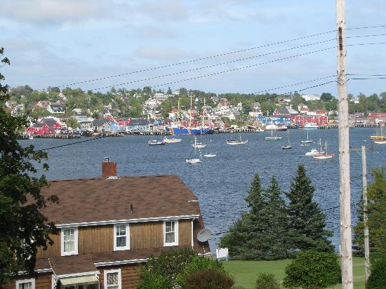 Topmast Motel: View of Lunenburg from deck.