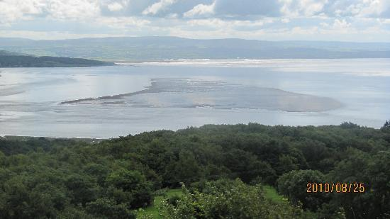 Grange-over-Sands, UK: view over Morcambe Bay