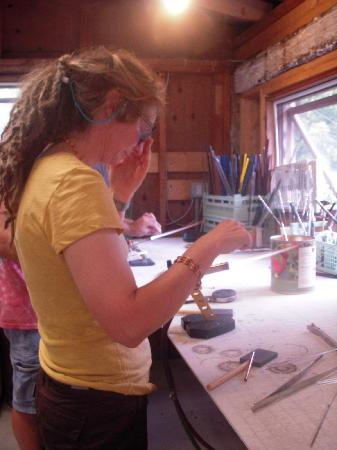 Camp Common Ground: Glass beading workshop