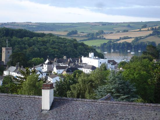 Stoke Gabriel, UK: view acrosss the village from our balcony