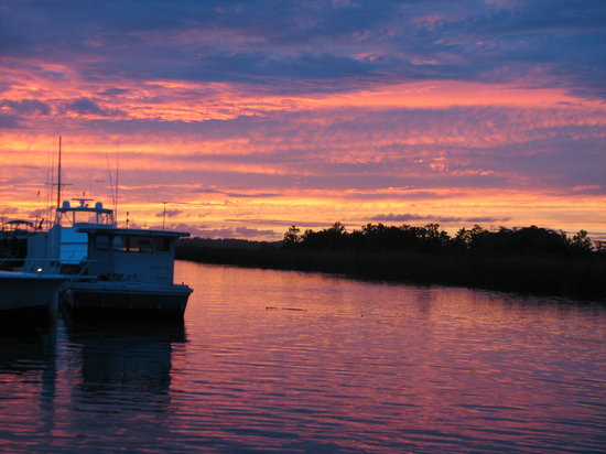 Sunset over Apalachicola