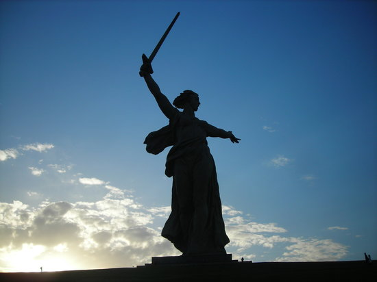 Volgograd, Russia: Mother Russia at Dusk
