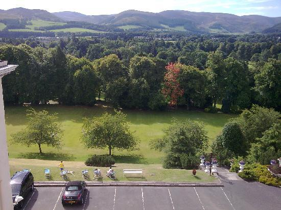 Peebles, UK: View from superior room