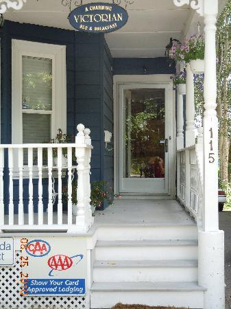 A Charming Victorian Bed and Breakfast: Welcoming Veranda/Porch
