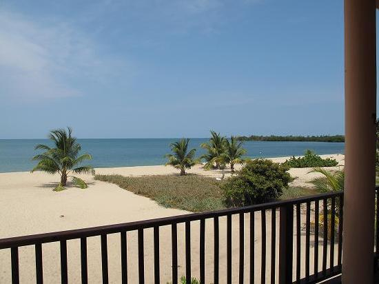 Mirasol Beach Apartment: View of Ocean from Mirasol Veranda by K.Schofield
