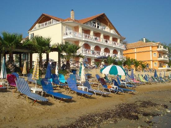 View to the hotel from the beach picture of tsilivi for The balcony zante