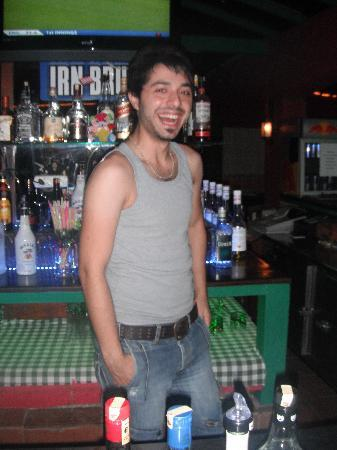 Meridyen Apartments: one of the barmen!