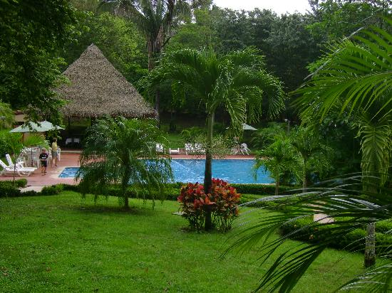 Playa Carrillo, Costa Rica: This is looking out our room to the pool and gardens
