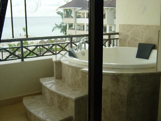 Secrets Wild Orchid Montego Bay: View from inside suite out to balcony jaccuzi