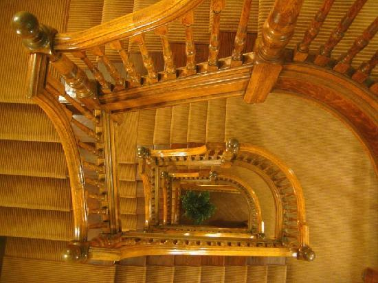Hotel Providence: The elegant old staircase is worth skipping the elevator