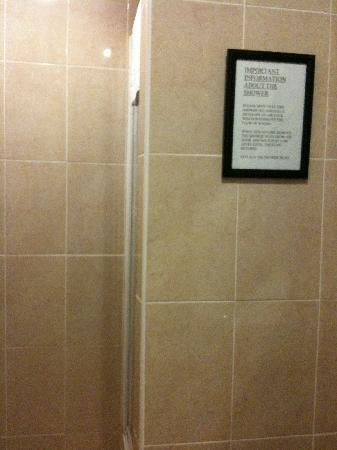 Albion Hotel: Shower stall