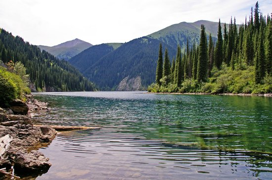 Almaty, Kazakhstan : Second Kolsai lake 