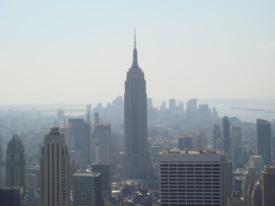 Morgans Hotel : Empire State Building by Day (from Top of The Rock)