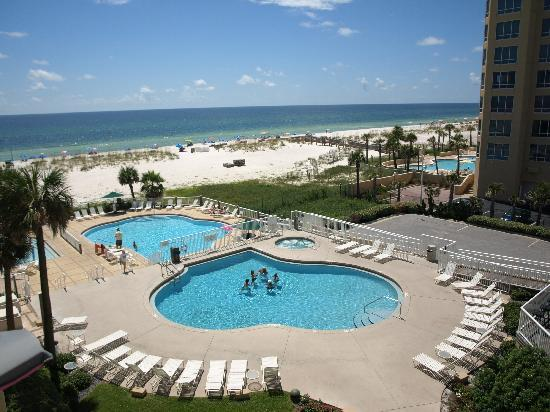 View From Our Balcony Picture Of Springhill Suites Pensacola Beach Pensacola Beach Tripadvisor