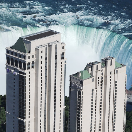 Hilton Hotel and Suites Niagara Falls / Fallsview: Aerial view of the Hilton Hotel and Suites