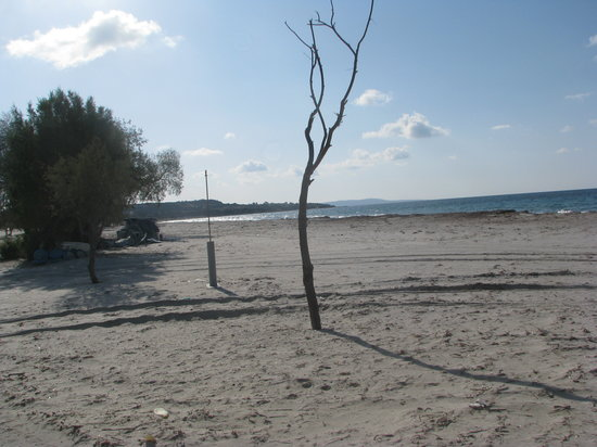 Mastichari, Greece: the beach in winter
