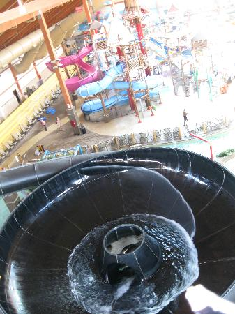 "Fort Rapids Indoor Waterpark Resort: Black Tube Slide ""toilet bowl"""
