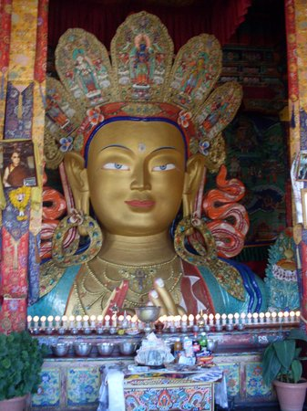 Ladakh, India: statue of buddha at thiksay monastery