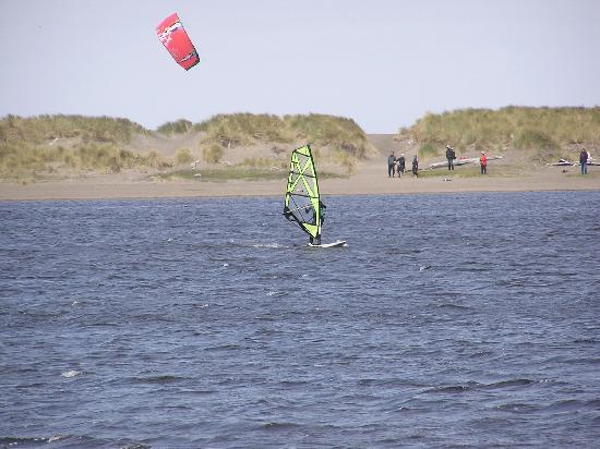 Floras Lake House Bed & Breakfast: Windsurfing and Kiteboarding
