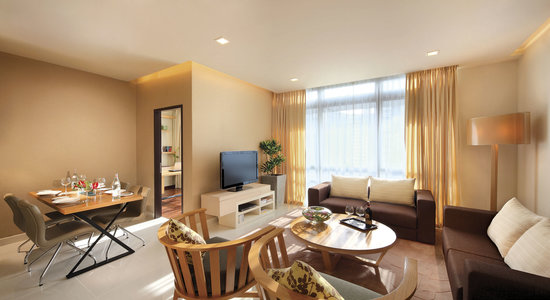 PARKROYAL Serviced Suites Kuala Lumpur: 2 Bedroom Prermier - Living Room
