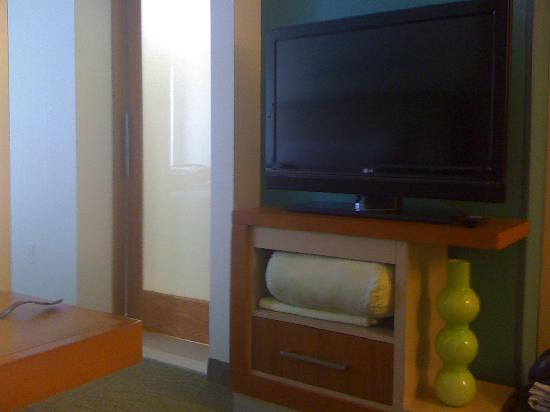 SpringHill Suites Charlotte Ballantyne: Flat screen LG television