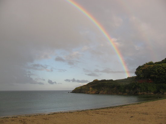 Falmouth, UK: The Cove with 2 rainbows
