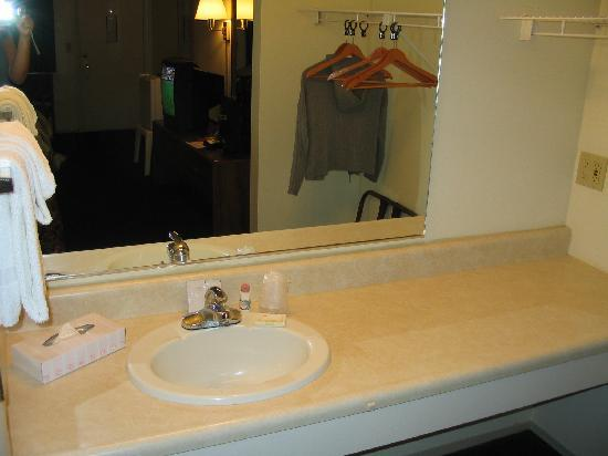 Waterfront Inn - Mackinaw City: sink area