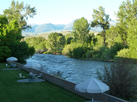 Salmon, ID: View of the river from our private deck