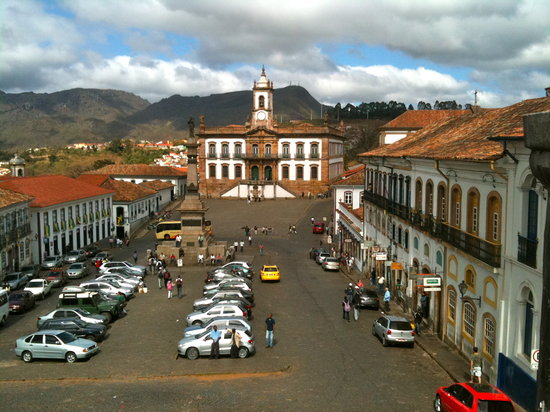 Ouro Preto, MG: Praça Tiradentes in the centre