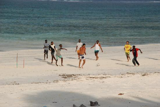 Dongwe Ocean View: Beach Football at Dongwe Beach