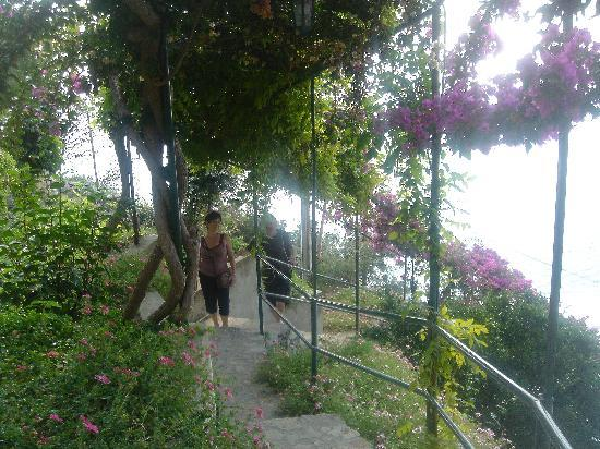 Villa Punta del Sole: Stairs from the street