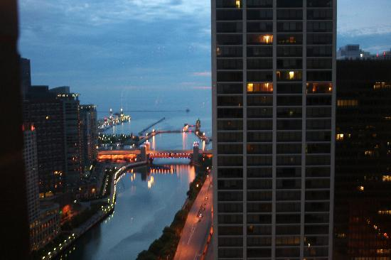 Chicago, IL: Night view from hotel room
