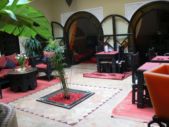 Riad Jona: Patio central del Riad