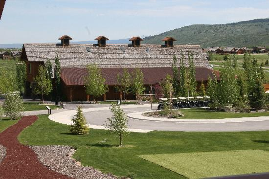 Teton Springs Lodge and Spa: view from our balcony