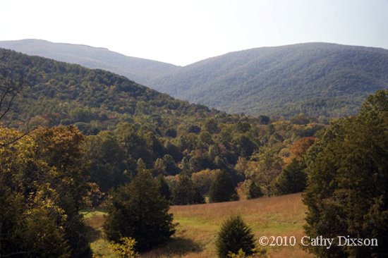 Waynesboro, Вирджиния: The Blue Ridge mountains