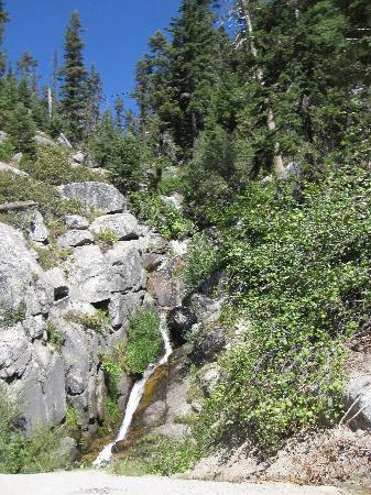 Lake Tahoe Area: Waterfalls on switchback roads down