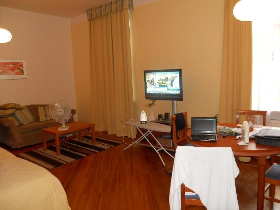 Prague City Apartments Residence Masna: TV and lounge
