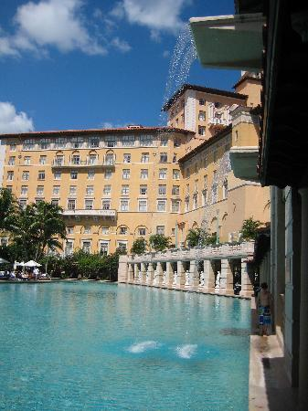 Biltmore Hotel: The pool and waterfall.