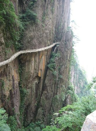Huangshan, China: Hanging paths