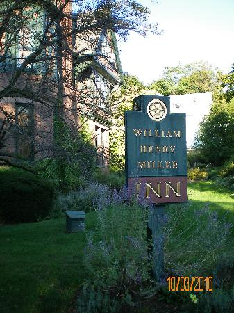 The William Henry Miller Inn: Sign in front