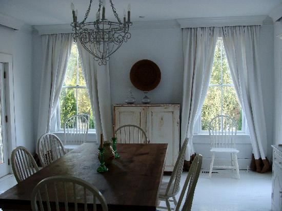 dining room at Collina Farm property (1/2 mile from main bldg ...