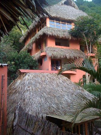 Villa Sumaya: The other guest house, with yoga temple at the top
