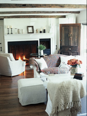 Inn at Kent Falls: the french inspired living room