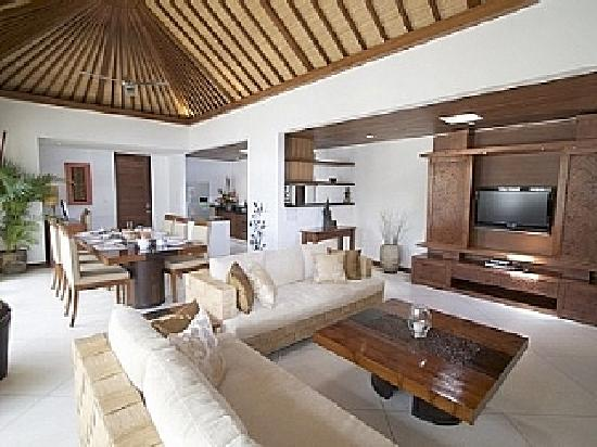 villa seriska living and dining room in modern balinese