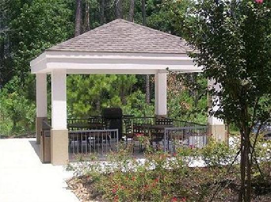 Candlewood Suites Houston, The Woodlands: Gazebo where we watched the kids in the pool and cooked on the grill