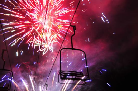 Fireworks over Vail Mountain