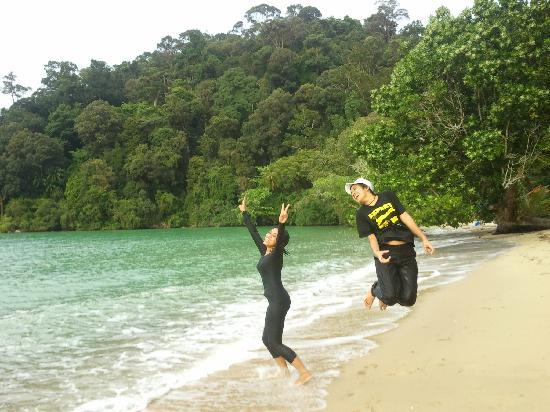 Teluk Dalam Resort: Resort Beach view