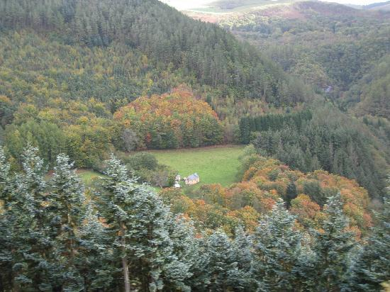 Aberystwyth, UK: view of the valley below