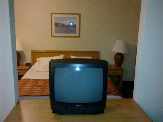 Island Suites: The television, which you could turn in multiple directions.